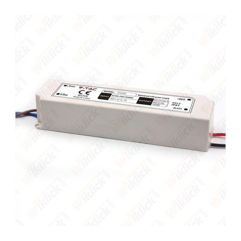 LED Plastic Slim Power Supply 60W IP67 12V   (5 anni di Garanzia)