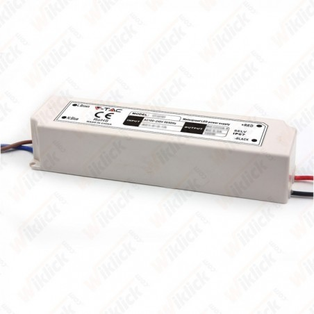 LED Plastic Slim Power Supply 100W IP67 12V (5 anni di Garanzia)