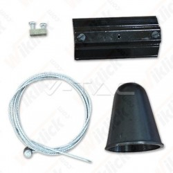 Hanging Track Light Kit 1M/4Line Black