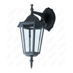 Wall Lamp E27 Matt Black Down