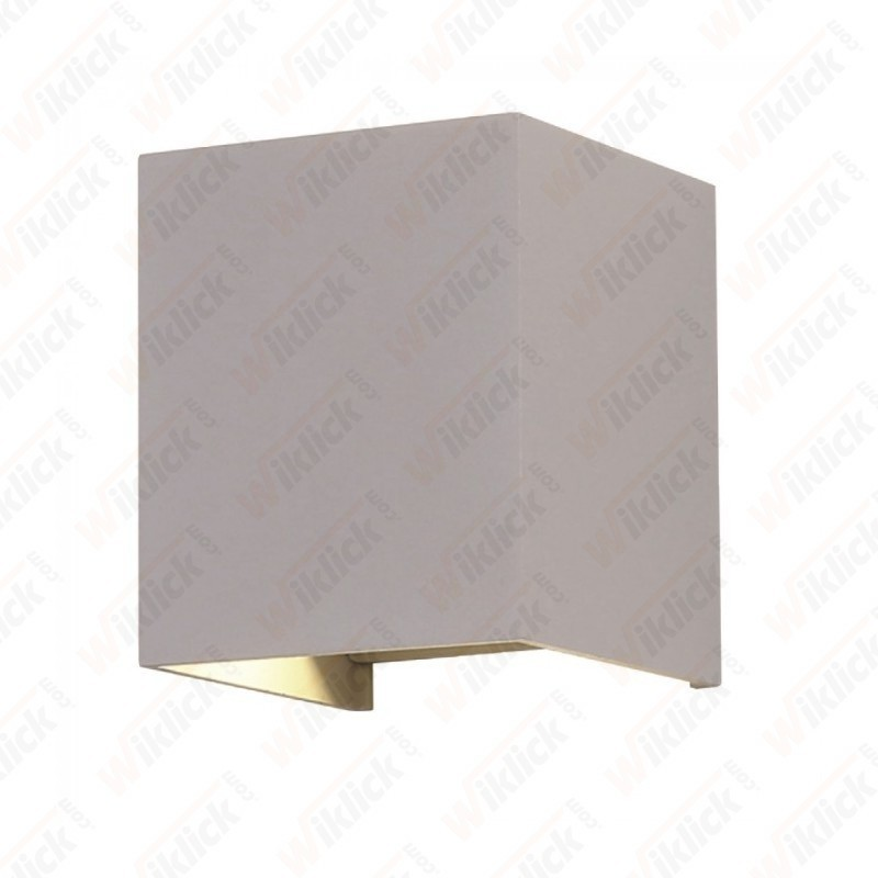 6W Wall Lamp With Bridglux Chip Grey Body Square 3000K