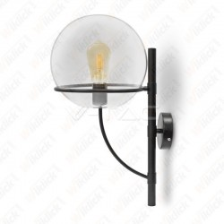 Wall Lamp Globe Shape Glass Transparent