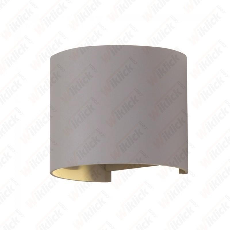 6W Wall Lamp With Bridglux Chip Grey Body Round 3000K