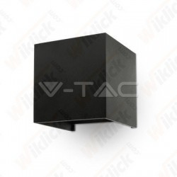 6W Wall Lamp Black Body Square IP65 3000K