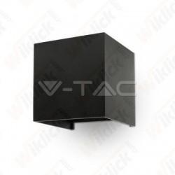 6W Wall Lamp Black Body Square IP65 3000K