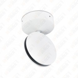 7W LED Wall Light White Body 3000K IP65