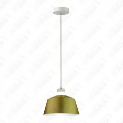7W Led Pendant Light (Acrylic) - Gold Lamp Shade 250*190mm 3000K