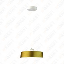 7W Led Pendant Light (Acrylic) - Gold Lamp Shade 340*190mm 3000K
