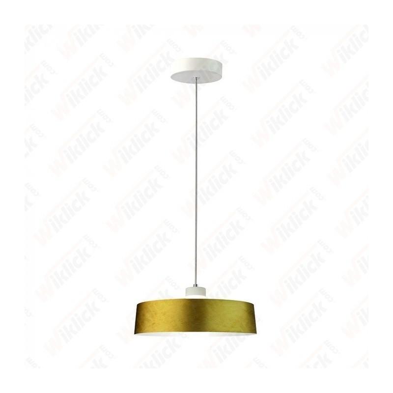7W Led Pendant Light (Acrylic) - Gold Lamp Shade 340*190mm 3000K