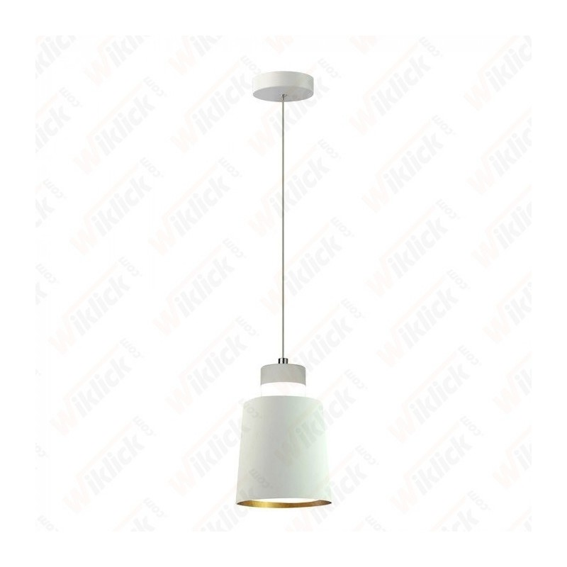7W Led Pendant Light (Acrylic) - White Lamp Shade 120*190mm 3000K
