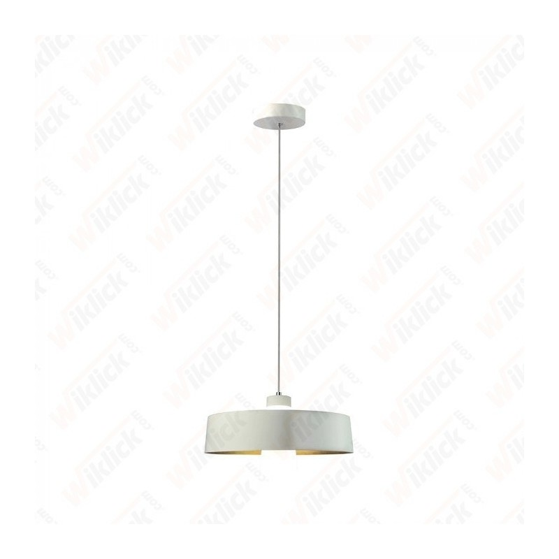 7W Led Pendant Light (Acrylic) - White Lamp Shade 340*190mm 3000K
