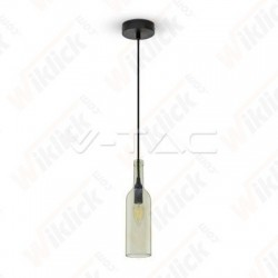 Bottle Pendant Light Transparent