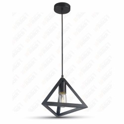 Pendant Geometric Triangle Black