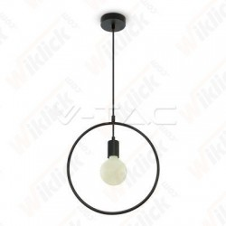 Pendant Light Matt Black With Black Canopy