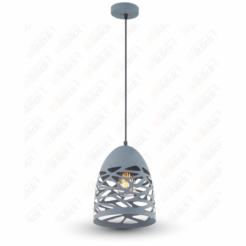 Pendant Light Matt Grey With Matt Grey