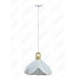 Pendant Light Pastel Wooden Prism White 320*270mm