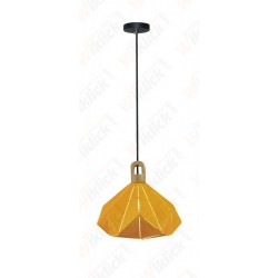 Pendant Light Pastel Wooden Prism Yellow 320*270mm