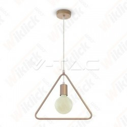 Pendant Light Triangle Champean Gold With Gold Canopy