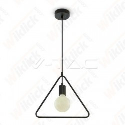 Pendant Light Triangle Matt Black With Black Canopy