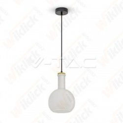 Glass Pendant Light White