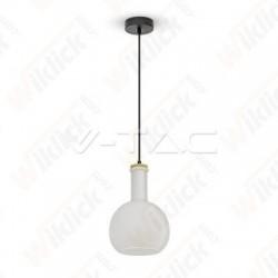 Glass Pendant Light White
