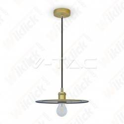 Metal Pendant Light Matt Gold