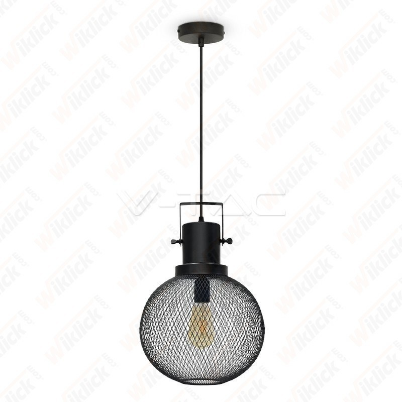 Pendant Light Black Metal Globe ?300??