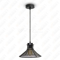 Pendant Light Black Metal V Shape Mesh ?250??