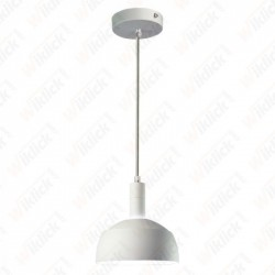 Plastic Pendant Lamp Holder E27 With Slide Aluminum Shade White