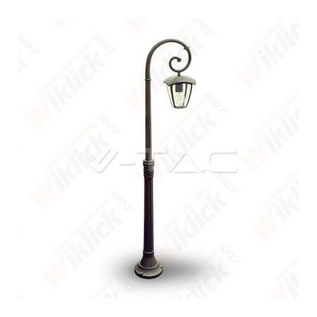 Pole Lamp 1XE27 1365mm IP44 Black