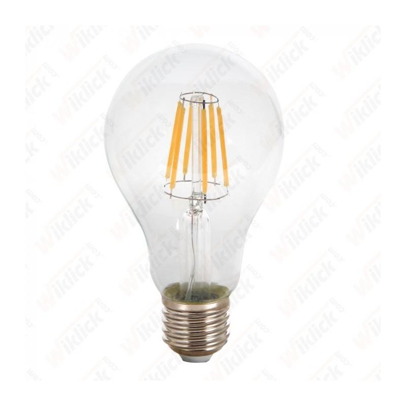 V-TAC VT-1981 LAMPADINA LED E27 10W A67 FILAMENT CON VETRO TRASPARENTE LUCE BIANCO NATURALE
