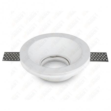 GU10 Fitting Round Gypsum White