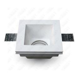 GU10 Fitting Square Gypsum Deep 120x120 White