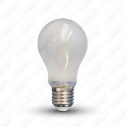 V-TAC VT-1939 Lampadina LED E27 4W A60 Filament in vetro bianco con luce bianco naturale