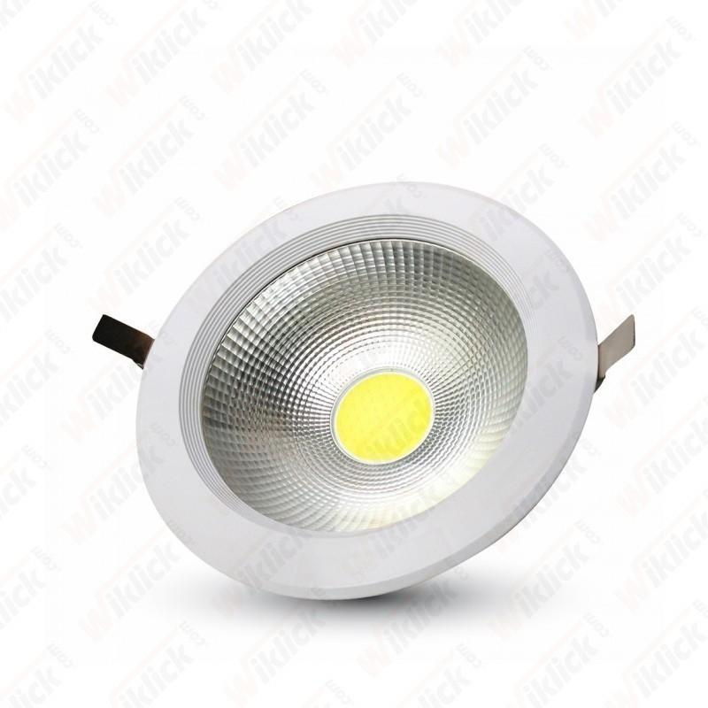 V-TAC VT-2610 Faretto  LED da incasso rotondo 10W COB luce bianco freddo