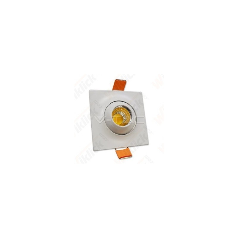3W LED Downlight With Moving Head Square 2700K - NEW