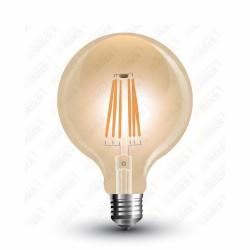VT-1956 LED Bulb - 6W Filament E27 G125 Amber 2200K