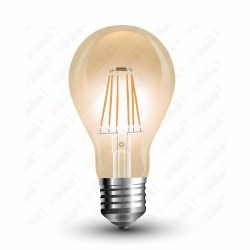 VT-1958 LED Bulb - 8W E27 Filament Amber Cover 2200K