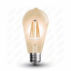 VT-1964 LED Bulb - 4W E27 Filament Amber Cover ST64 2200K