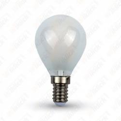 VT-1835 LED Bulb - 4W Cross Filament E14 P45 Frost Cover 2700K