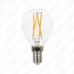 VT-1996 LED Bulb - 4W Filament E14 P45 Clear Cover 2700K