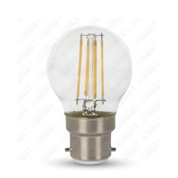 LED Bulb - 4W B22 G45 Filament Clear Cover 2700K