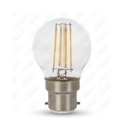 LED Bulb - 4W B22 G45 Filament Clear Cover 2700K