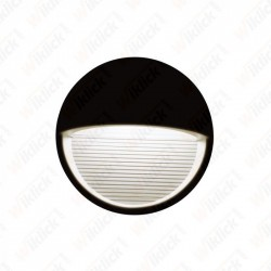 VT-1182 3W LED Step Light Black Body Round 3000k