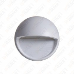 VT-1182 3W LED Step Light Grey Body Round 3000k