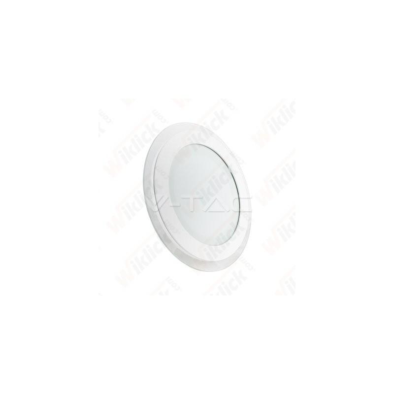 VT-1204G-RD 12W LED Panel Downlight Glass Round Change Color 3000K/4500K/6000K
