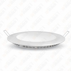 VT-2207 22W LED Slim Panel Light 4000K Round