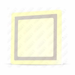 VT-2209 18W+3W LED Surface Panel Downlight - Square 3000K    EMC+CR80