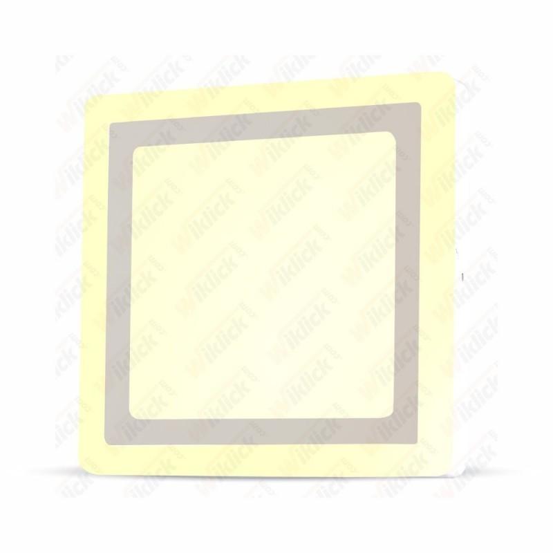 VT-2209 18W+3W LED Surface Panel Downlight - Square 6000K      EMC+CR80
