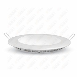 VT-2407 24W LED Premium Panel Downlight - Round 3000K